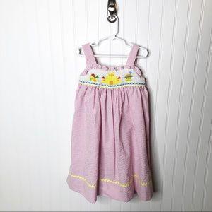Marmellata Pink White Smocked Summer Dress 4T